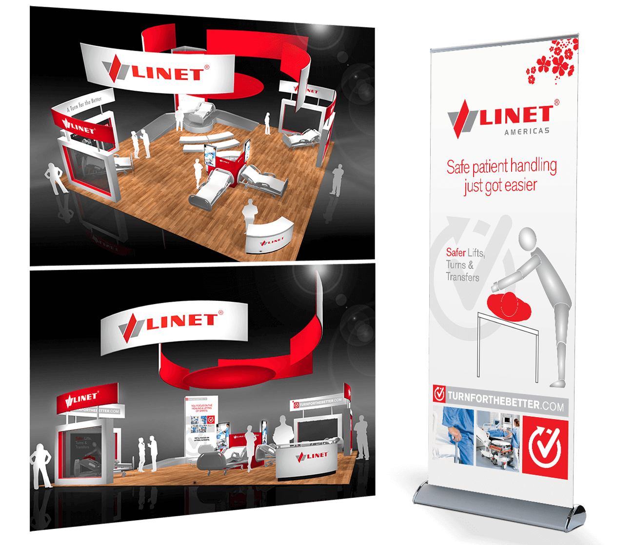 Linet Tradeshow Displays and Banner Up